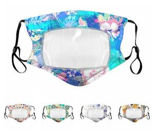 Erkekler Kadınlar Yaz Maskeler Yıkanabilir Pamuk Nefes Çiçek toz geçirmez Koruyucu Ağız Kapak Şeffaf Plastik Patchwork Maskeleri RRA3247 Maske