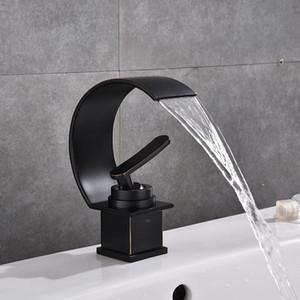 Bacia torneiras torneiras do banheiro torneira do banheiro de bronze preto moderno único buraco frio e água quente torneira da bacia torneira misturadora torneiras