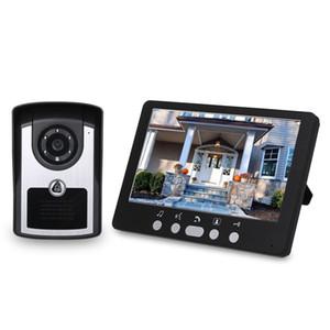 HD Câmera de Vídeo porta telefone campainha Intercom Início Sistema de IR Night Vision Monitor de 7 polegadas Indoor