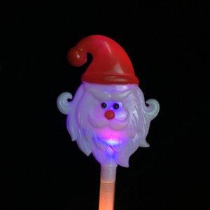 Led Light Up Toy Light Stick Gran tamaño Merry Christmas Party Flash Snowman Santa Claus Fluorescent Sticks Popular 2 9ky J1