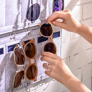 Newest Glasses Organizer Sunglasses Organizer 15 Slots Storage Hanging Sunglasses Eyeglasses Wall For Women Man d5
