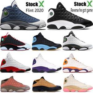 barones nuevos 13 13s zapatos de baloncesto de Jumpman Flint inversa Una mala jugada holograma criados bajo mens chutney entrenadores zapatillas de deporte de Estados Unidos 7-13