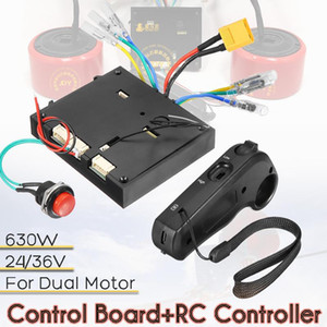 24-36 V Elektrikli Kaykay Kontrol Kurulu + Uzaktan Kumanda Için Çift Motor ESC Yerine Parçaları Scooter Skate Board Aksesuarları