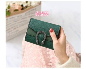 wholesale handbag Designer Wallet Small Wallet Female Short Retro Fold Change Wallet Red Black Green Brown Pure Color Hot Sale Mini Womens