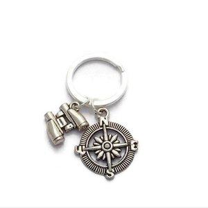 argento tibetano Telescopio bussola Ciondolo Idea Keychain - fascino anello della catena chiave ciondolo fai da te Fit Keychain - 155