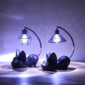 Luminaria luci LED magia del fumetto Cat Animal Notte bambino Luce Nursery lampada da tavolo Per capretto del bambino del regalo di compleanno della decorazione della casa