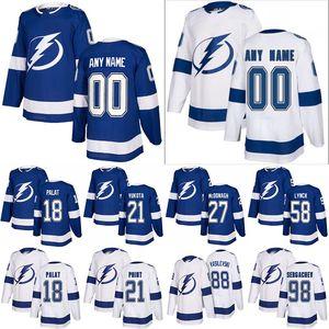 Tampa Bay Lightning Hockey Jerseys 9 Tyler Johnson 17 Alex Killorn 21 Brayden Ponto 98 Mikhail Sergachev personalizado qualquer nome qualquer número
