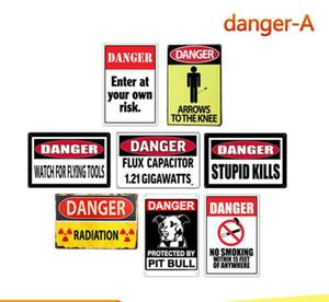 Vintage danger warning area tin sign wall poster painting arts old stupid kills home Bar shop decoration metal signs