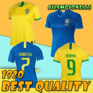 2019 브라질 여성 축구 유니폼 홈 브라질 브라질 마타 아드리 아나 DEBINHA ANDRESSA 19 20 저지 2020 축구 셔츠
