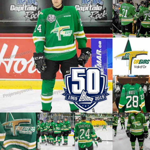 2019-20 QMJHL 50 Anniversary Patch-Val-d Or Foreurs Jersey 14 Dominic Chiasson 27 GAUCHER 28 NOEL 24 GAUCHER 21 Guénette CHL Hokcey Trikots