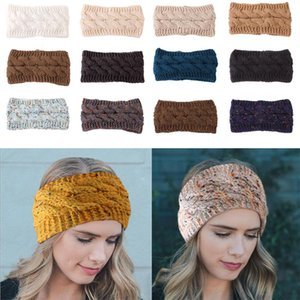 Designer malha Hairband Mulheres Winter Sports Hairband Turban Headwrap Ear Warmer Beanie Cap Headbands com letra XD22716