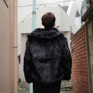 19SS desgaste de doble cara Bombardero de la piel de imitación de la chaqueta caliente del invierno los abrigos de pieles de peletería Pareja Moda de la calle de vestir exteriores HFLSJK354