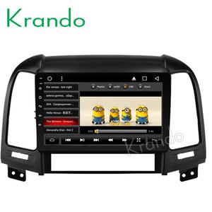 """Krando Android 8.1 9 """"IPS Full touch car Multmedia player per Hyundai Santa fe 2006-2012 3 fori 4 fori sistema di navigazione GPS auto dvd"""