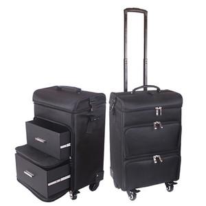 Professionale caso di trucco delle donne trolley grande bagaglio di laminazione nuovo box cosmetici bellezza tatuaggio manicure toolbox multistrato valigia