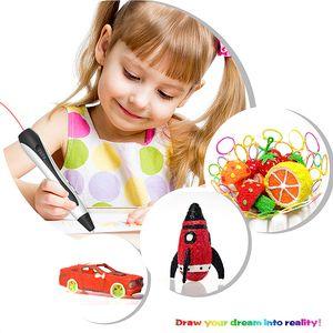 3D Pen 3d pens 1.75mm ABS PLA Filament 3 d pen model Printer Creative Magic Drawing Printing Toy Kids Gift birthday