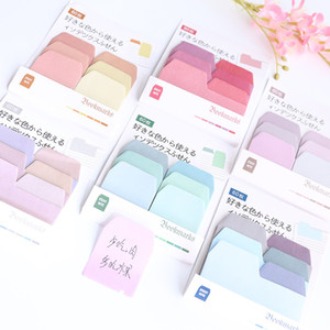 Creative Watercolor Gradient Japanese Sticky Note Office Planner Sticker Paper Stationery School Supplies
