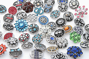 snap button 18mm jewelry Rhinestone Buttons 18mm Metal Rhinestone Snap Buttons Fit Snap Bracelet Bangles Necklaces