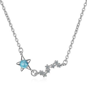 MEEKCAT Drop Shipping 925 Sterling Silver Chain Necklaces Star Pendants&Necklaces Jewelry Collar Colar de Plata
