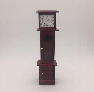Dollhouse Minyatür 1:12 Ölçekli Çalışma Büyükbaba Saat