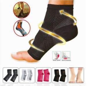 Pie Compresión antifatiga Manga de pie Soporte de tobillo Correr Ciclo Baloncesto Calcetines deportivos Hombres al aire libre Calcetín de tobillo