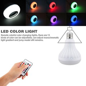 E27 Led Lamp 12w Rgb Bluetooth Speaker Music Bulb Dimmable Wireless Colorful Led Bulb Light With 24 Keys Remote Control