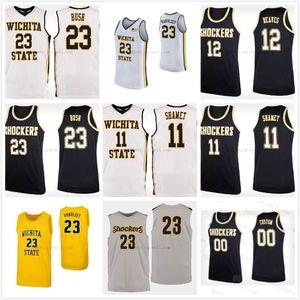 Wichita State Shockers College # 11 Landry Shamet # 12 Austin Reaves # 14 Jacob Herrs Pullover di pallacanestro Mens Stitched Personalizzato Qualsiasi numero Nome