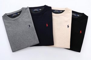 OL2 Neue hochwertige Pullover feste Farbe Pullover q1 Männer Casual Marke Pullover dünne Pullover Herren-O-Kragen Modetrend Kleines Pferd UCES