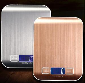40 PCS LCD Balanzas electrónicas de cocina Balance de cocción Mida Herramientas de acero inoxidable digital 5000G / 1G Pesaje digital Escala de alimentos