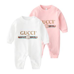 Roupa do Agasalho bebê 0-24M menina recém-nascida do menino macacãozinho malha de algodão manga comprida macacão roupa para crianças