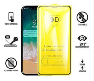 Pour Iphone 11 x pro xr xs max 8 7 6 plus New 9D PARFAITEMENT téléphone cellulaire colle protecteur d'écran Verre trempé pour Samsung M30 M20 A20 A50 A70