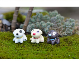Free shipping wholesale lovely mini toys cake toppers capsule toys dog decoration gift mix colors