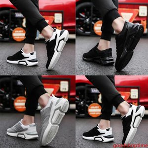 New Men Running Shoes Triple Black Light Grey Fashion Men Trainer Breathable Multi Outdoor Sport Sneaker Free Shipping Size 40-44