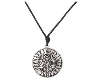 JF065 목걸이 쥬얼리 도매 바이킹 종교 빈티지 룬 펜던트 부적 이교도 Snowflake charm jewelry mens necklace