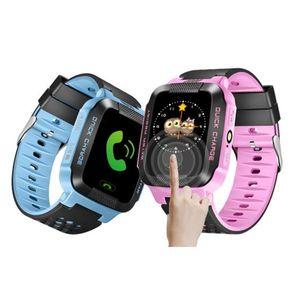 Y21 GPS 어린이 스마트 시계 안티 - 분실 손전등 아기 스마트 손목 시계 SOS 전화 위치 추적기 아이 아이 안전 팔찌를 들어 안드로이드 아이폰 OS
