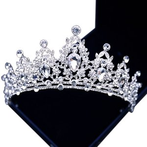 Luxuriöse Perlen Kristall Strass verziert Braut Krone New Design Braut Kopfschmuck Top Sale Kopf Diademe Zubehör 2019 Top Sale