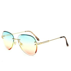 Colorful Gradient Sunglasses Rand Oversized for Men Colorful Gradient Lens Sunglasses Big Frame Sunglasses Women Metal Frame Tops