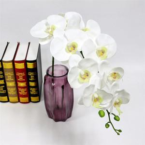 96cm de longitud artificial orquídea Phalaenopsis Flores tacto verdadero orchidea día de la madre presente florece la decoración del hogar