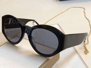1129 Black Cat Eye Солнцезащитные Очки с Цепным Ожерельем Солнцезащитные Очки женские Марка Дизайнерские солнцезащитные очки Оттенки Высочайшее Качество Новое С Коробкой