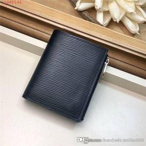 2019 nouveau portefeuille quatre saisons, porte-monnaie unisexe tendance en cuir avec porte-cartes à rayures irrégulières