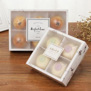 2019 100pcs vente chaude / lot transparent givré gâteau boîte Dessert Macarons Mooncakes Boîtes Boîtes d'emballage pâtisserie