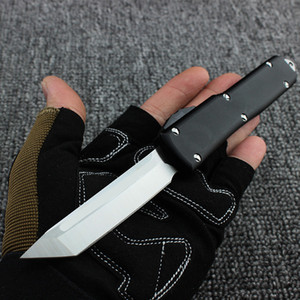 Top Micro tech UT Automatic Tactical Knife Aviation aluminum knives 440 stainless steel blade Auto knife with nylon sheath Camping tools