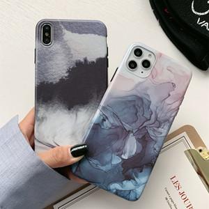 Arte abstracto retro de mármol Teléfono caso del iPhone para 11 Pro Max para el iPhone X XR XS 6 7 8 6S Plus Soft Mate IMD casos de la cubierta