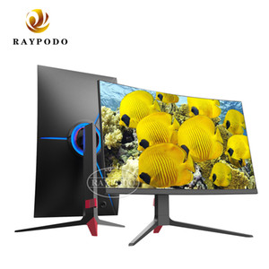 Raypodo 24 27 32 inch Curved 144hz PC gaming monitor with breathing light