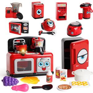 Juego de simulación de pequeños aparatos electrodomésticos de cocina de microondas aspiradora horno de luz jugar juguete educativo de los niños