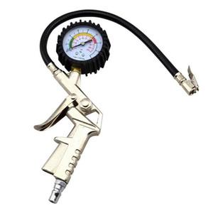 Multifuncional de aire del neumático del neumático del calibrador del metro de la presión del dial del vehículo probador de neumáticos Herramientas de reparación para el carro del coche de la motocicleta