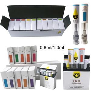 Leeren TKO Patronen Vape Cartridge Verpackung 0,8 ml 1 ml Keramik Dab Pen Wax Vaporizer E-Zigaretten Vape Carts 510 Batterie Öl Atomizer