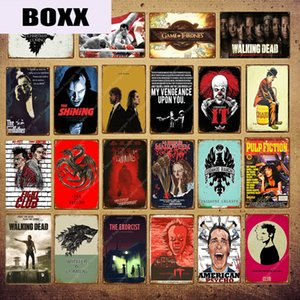 2020 clássico Movie Poster famoso filme Star Music Rocky Brilhante Elvis Pulp Fiction Clube Wall Decor Placas de lata Vintage metal Plaque YI-060