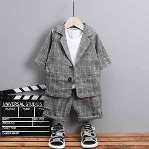 3 pcs Baby Clothes Set Boys Costumes for Wedding Spring 2019 Children Birthday Dress Boy gentleman Costume Kids Clothes Suit