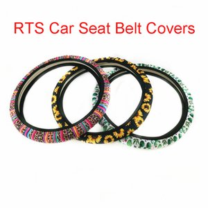 Steering Wheel Cover bonito moda Padrão de direcção do carro Covers de roda para Acessórios Mulheres Meninas Car Universal girassol Leopard M517F