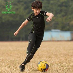 Jungen Frühling Sommer Sport Sets Compression Running Anzüge Kinder 3 Stück Basketball Training Sets